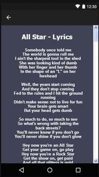 Smash Mouth Songs & Lyrics. apk screenshot