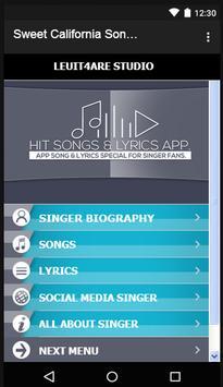 Sweet California Songs&Lyrics. apk screenshot
