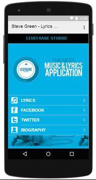 Steve Green - Lyrics Music apk screenshot