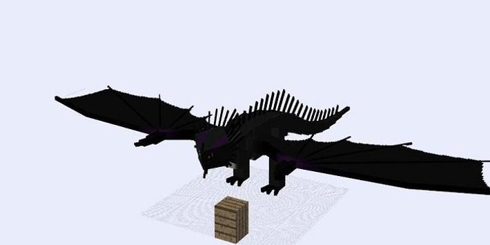 Driveable Dragon Addon for MCPE poster