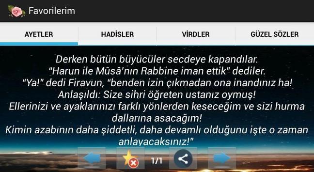 Tefeül (Ayet  Hadis Güzel Söz) apk screenshot