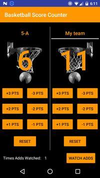 Basketball Score Counter screenshot 1