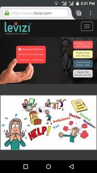 Levizi Emergency Care App apk screenshot