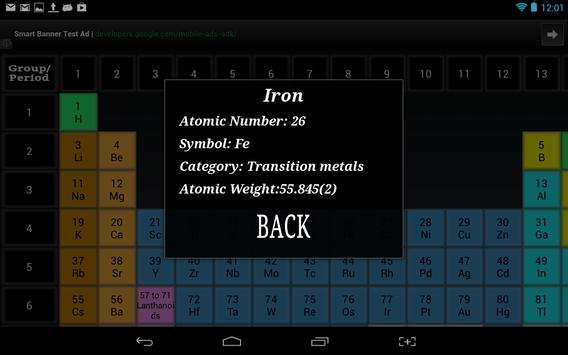 Periodic table of the elements apk download free education app for periodic table of the elements poster urtaz Image collections