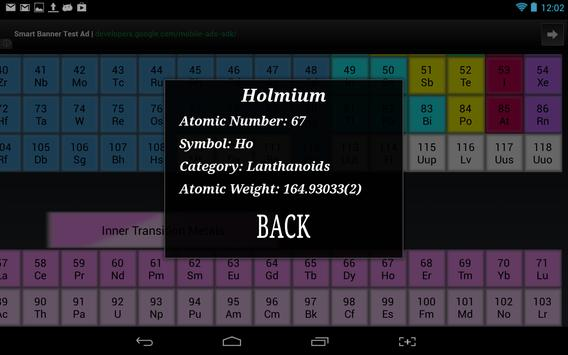periodic table of the elements periodic table of the elements apk