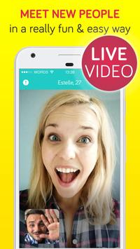 3 Words – Free Videochat & Game to Meet New People poster