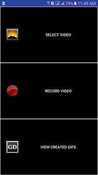 Video To Gif Converter | Video Camera And Memory apk screenshot