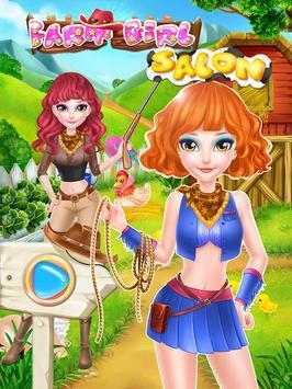 Farm Girl Salon: girls games poster