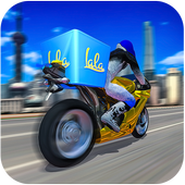 Bike Cargo Delivery Driver 3D icon