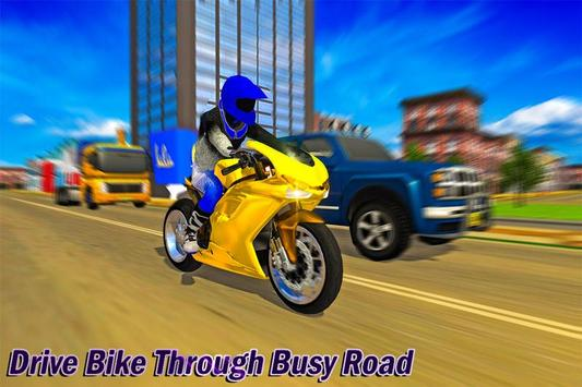 Bike Cargo Delivery Driver 3D poster