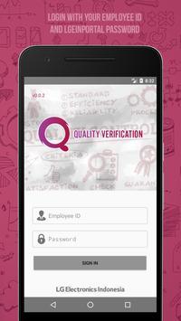 Quality Verification poster