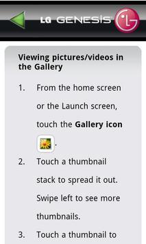 LG Genesis 760 User Guide apk screenshot