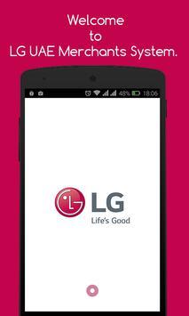LG UAE Merchants System poster