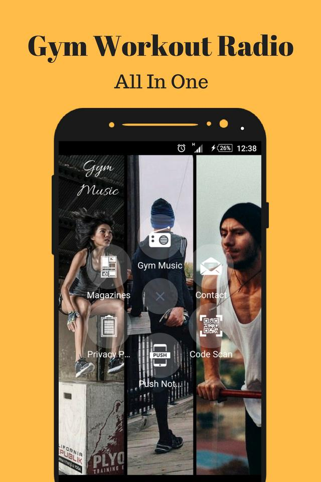 Gym Workout Music App Radio Fitness World free for Android