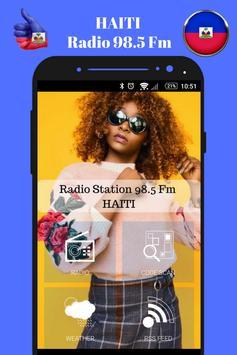 Haitian Radio Station 98.5 Fm Music App 98.5 Live poster