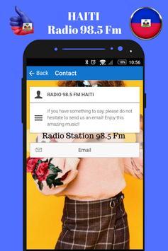 Haitian Radio Station 98.5 Fm Music App 98.5 Live screenshot 3