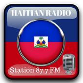 Haitian Radio Station 87.7 Fm Music App 87.7 HD icon