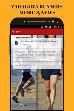 Zaragoza Runners & Running Gym Music App Radio Fm screenshot 3
