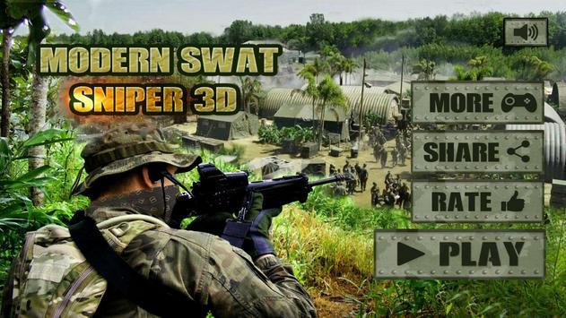 Modern SWAT Sniper 3D poster