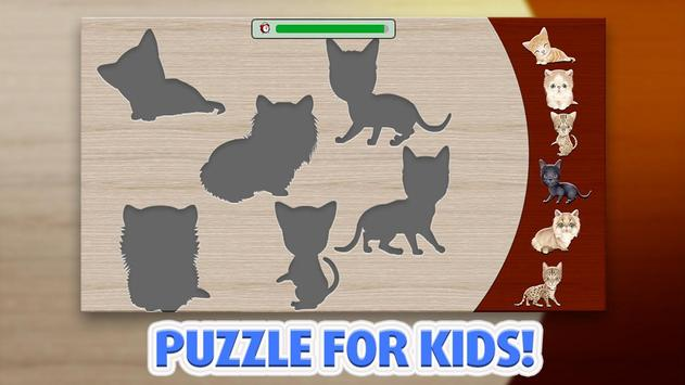 Puzzle for kids - Cats poster