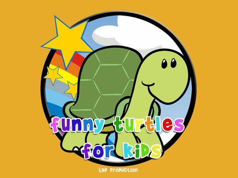funny turtles for kids poster