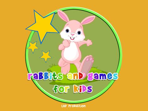 rabbits and games for kids poster