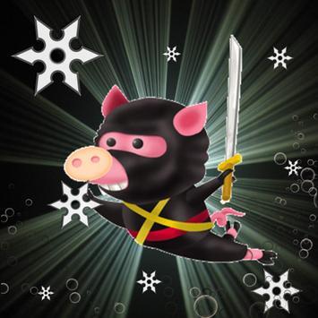 Guardian pig ninja sonic poster