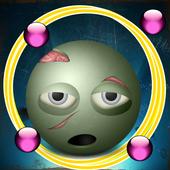 Zombie zuma on road run icon