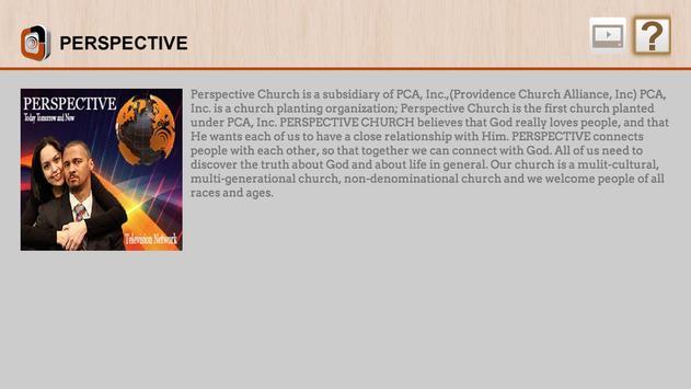Perspective Television Network apk screenshot