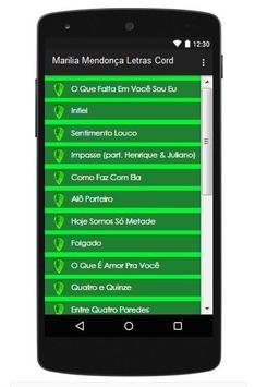 Marilia Mendonça Letras Cord apk screenshot