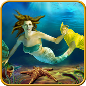Mermaid simulator 3d game - Mermaid games 2020 icon
