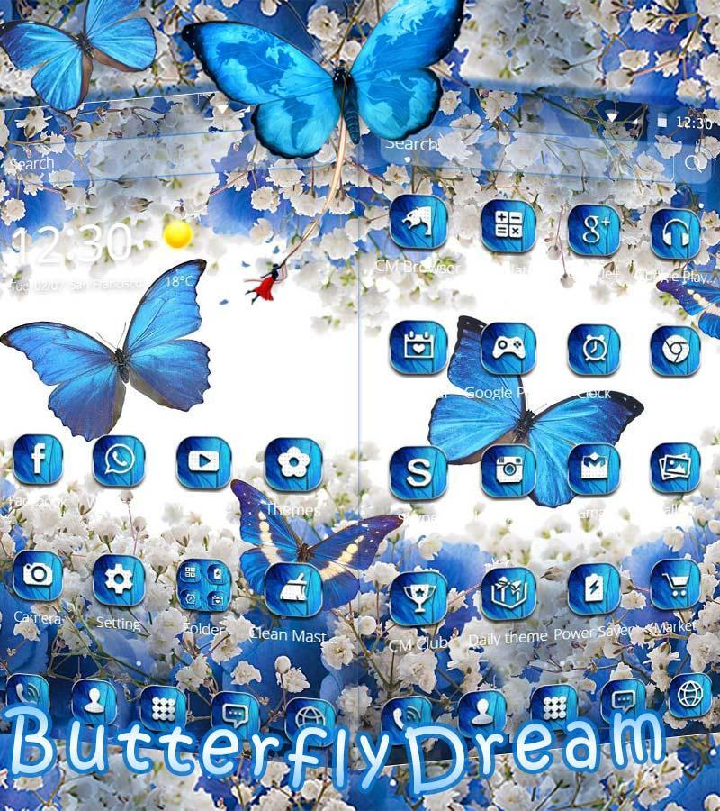 Blue Butterfly Dream Theme Wallpaper For Android Apk Download