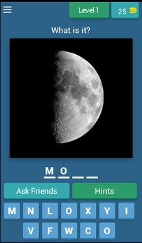 Moon: guess the word poster