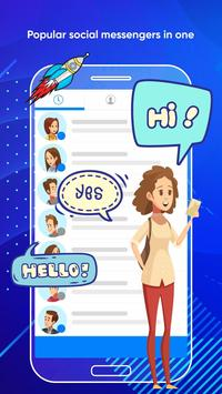 Messenger Light for SMS Online - Video Chat poster