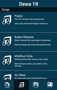 Koleksi Lagu DEWA 19 Full apk screenshot