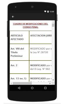 Codigo Penal Peruano apk screenshot