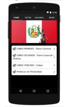 Codigo Penal Peruano poster