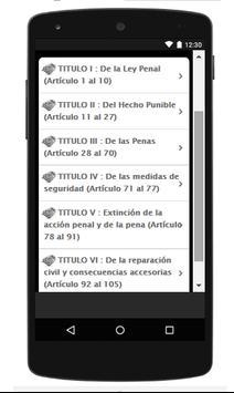 Codigo Penal Peruano screenshot 1