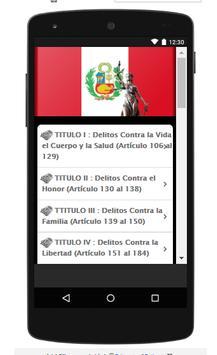 Codigo Penal Peruano screenshot 3