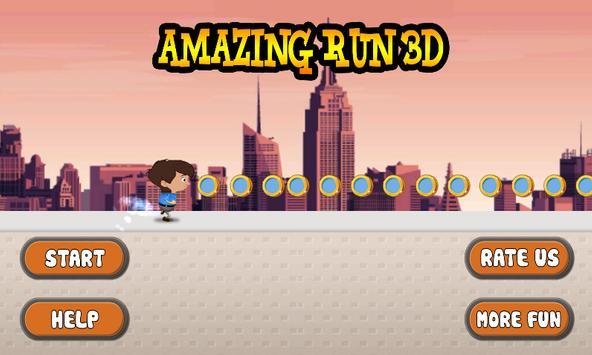 Amazing Run 3D poster