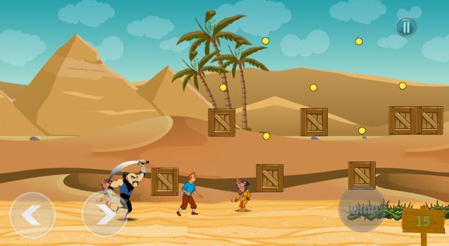 Game of Tin tin Adventure vs toby gam apk screenshot
