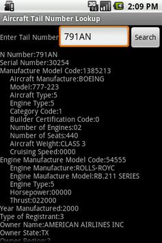 Aircraft Tail Number Lookup poster