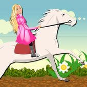 White Horse Ride for Barbie icon