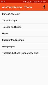 Anatomy Review - Thorax poster