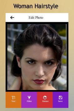 Woman Hairstyle Photo Editor screenshot 3