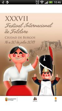 Festival Folclore Burgos poster