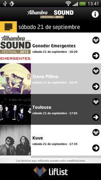 Alhambra Sound Festival apk screenshot