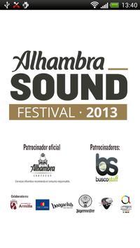 Alhambra Sound Festival poster
