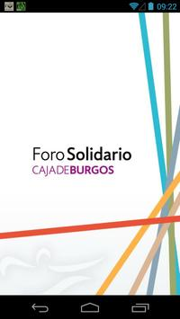 Foro Solidario Caja de Burgos poster