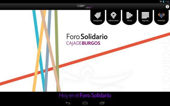 Foro Solidario Caja de Burgos apk screenshot